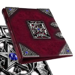 three-ring binder Book of Shadows